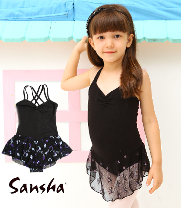 [Sansha] Double strap leo with skirt