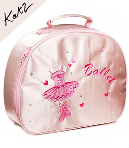[Katz] Girls Pink Satin Ballerina Hand bag