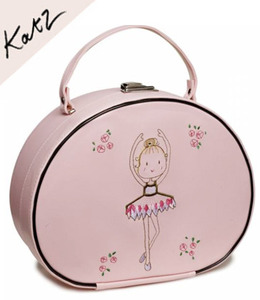 [Katz] Girls Pink Ballerina Hard Vanity Case